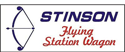 A070 Stinson Flying Station wagon Airplane banner hangar garage Aircraft signs