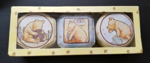 Collectible Winnie the Pooh # 3 Scented Candles in Reusable Tins