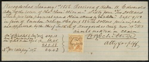 Pre-War Texas Manuscript Document Signed by William B. Ochiltree