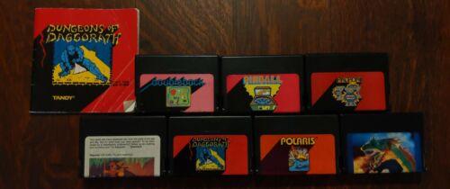 Computer Games - Lot of 7 Color Computer Tandy Cartridges