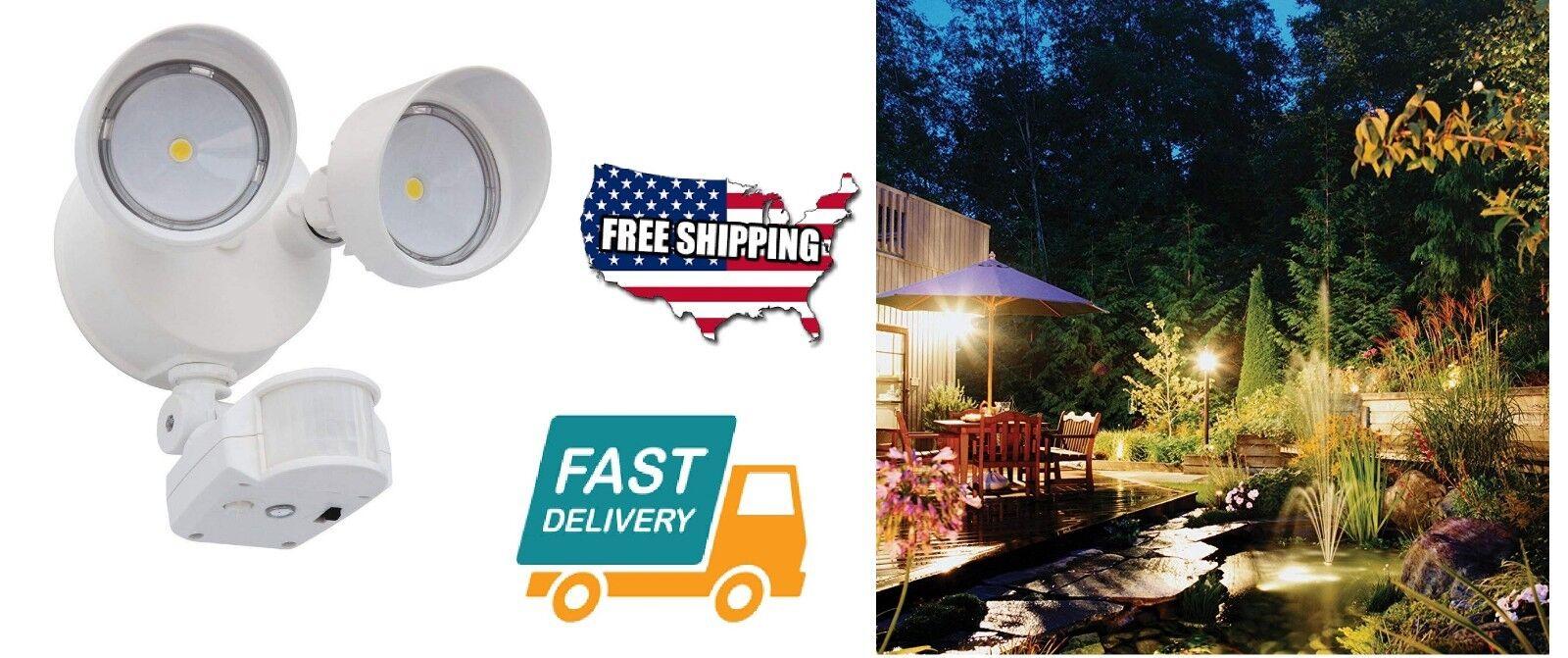 Outdoor Security Flood Light LED 180 Degree Motion-Sensor We