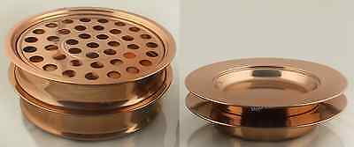 Communion   Stainless Steel Copper Tone 2 Tray And 2 Bread Plate Halloween Gift