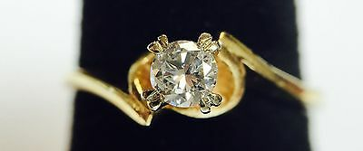 14K Solitaire Diamond Ring   Free Shipping