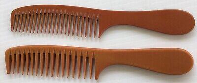 TWO Prof. Detangler Hand Made Bone Comb seamless comb by hairsense #2066S / 2107