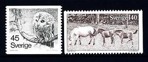 SWEDEN - SVEZIA - 1977 - Soggetti diversi: allocco, pony di Gotland - Brescia 25124, Italia - L'oggetto può essere restituito - Brescia 25124, Italia