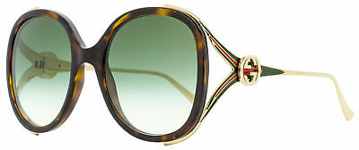 Gucci Oval Sunglasses GG0226S 003 Havana/Gold 56mm 0226