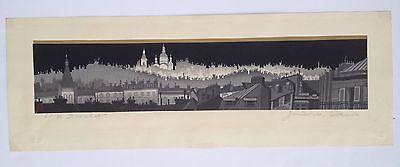 Jun'ichiro Sekino - Montmarte - Japanese Woodblock Print, 1959