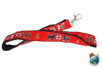 Portuguese Water Dog Lanyard Key Holder Badge Holder