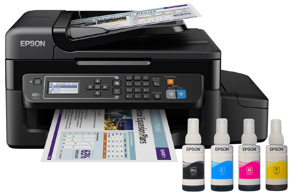 Epson EcoTank ET-4500 4-in-1-Tintenstrahl-Multifunktionsgerät Drucker Kopierer