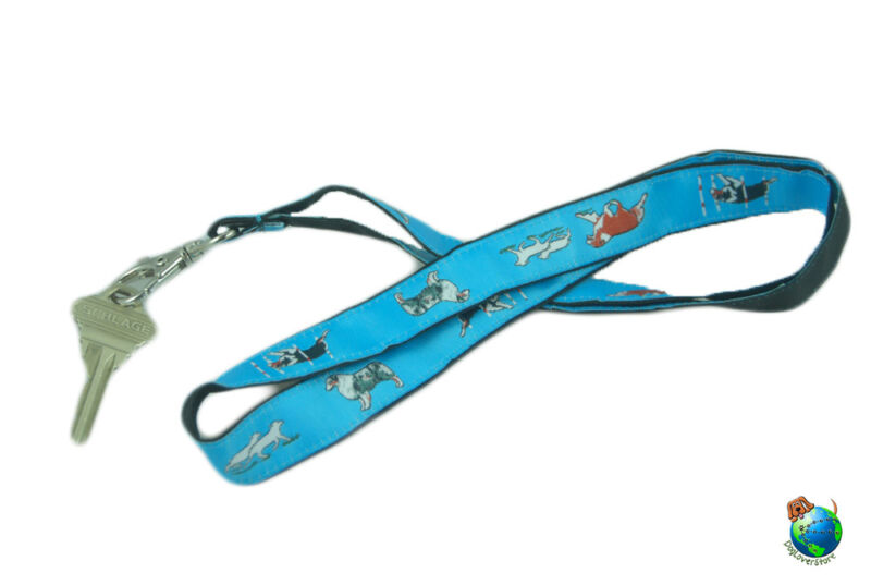Australian Shepherd Lanyard Key & Badge Holder