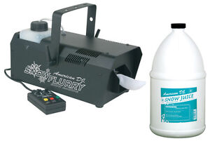 AMERICAN DJ SNOW FLURRY EFFECT MACHINE W/ REMOTE TIMER 1 GALLON FLUID PACKAGE