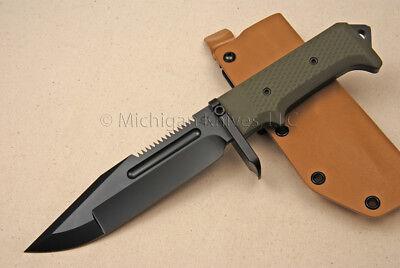 Medford USMC Marine Raider Knife - CPM S35-VN SS (PVD) - Green G10   (0066)