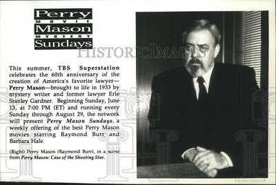1993 Press Photo Raymond Burr stars in Perry Mason:Case of the Shooting (Perry Mason Case Of The Shooting Star)