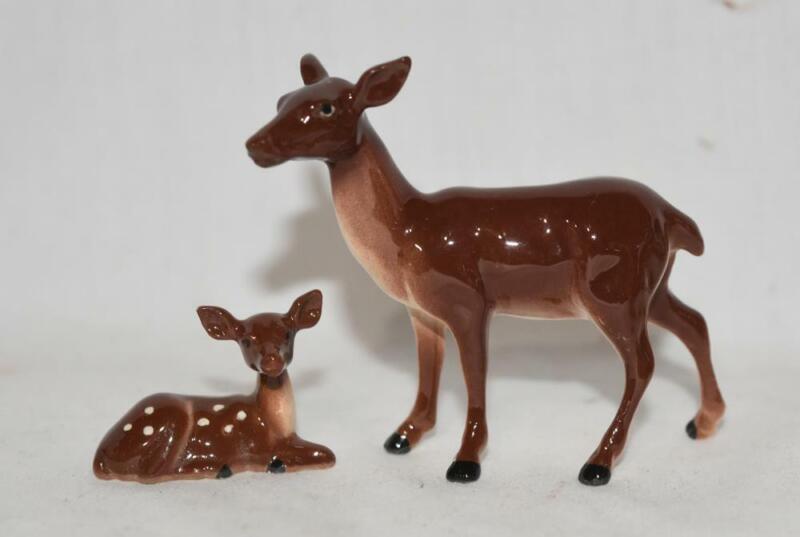 Hagen Renaker Brazel Loza Deer & Baby Animal Figurine