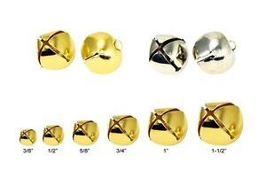 Lead-Free-Christmas-Shining-Jingle-Bells-Pendants-Charms-Gold-Silver-Multi-size