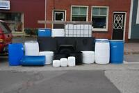 Recyled Plastic Barrels, Tanks & containers (Updated 25 Jan. 15)