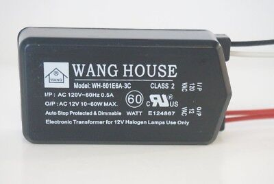 Wh-601e6a3c 12v60w Wang House Low Voltage Halogen Electronic Transformer New