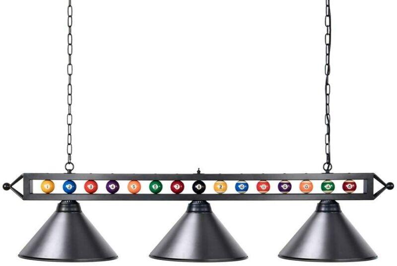 Pool Table Lights, Wellmet 59 inch Billiard Light with 3 Metal Shades,...