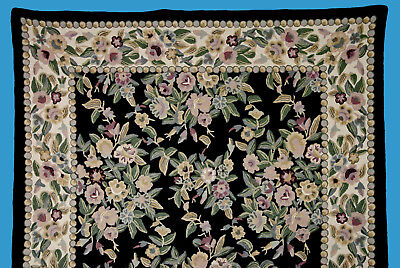 sehr qualitätvolle Kurbelstickerei - älterer Wandteppich aus Wolle  !! Selten !!