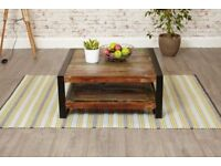 Industrial Reclaimed Boat Wood Coffee Table - Two Sizes