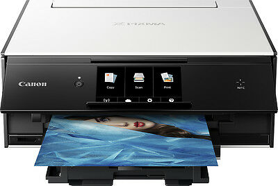 Canon - PIXMA TS9020 Wireless All-In-One Printer - White/Black