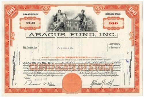 WHOLESALE LOT 10 ABACUS FUND (PIONEER HEDGE FUND) STOCKS 59c! SUGGEST RETAIL $20