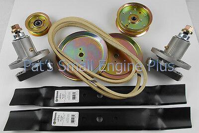 """John Deere 42"""" Lawn Mower Deck Rebuild Kit w/Spindle Pulleys L110 L111 L118 L120"""