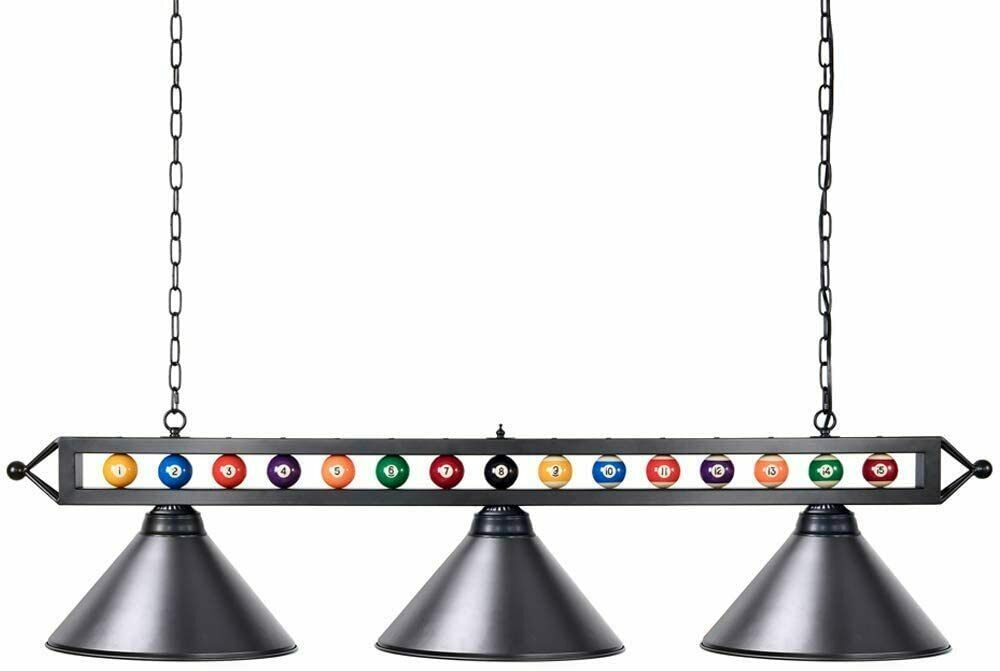 Pool Table Lights, 59 inch Billiard Table Light with 3 Metal Shades,