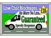 """£10""(FIXED RATES)""£10""(No More-No Less)1 Hr Service Lifetime Guarantee24/7+Blocked toilets & Drains"