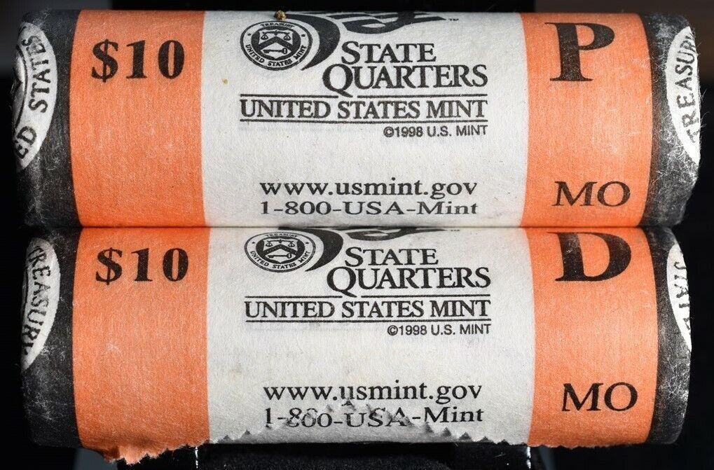 2003 P /& D  MISSOURI  STATE QUARTER US MINT ROLLS *SEALED*  R36