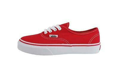 Boys White Vans Shoes (Vans Authentic Kids Children Youths Girls Boys Canvas Red White Shoes)