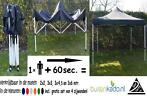 Vouwtent harmonicatent partytent 3 x 3 3 x 4,5 3 x 6 meter