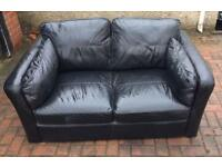 Black leather sofa can deliver