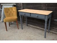Stunning Pine Hall table in Vintage Grey *Delivery Poss* Sideboard Dresser (oak)