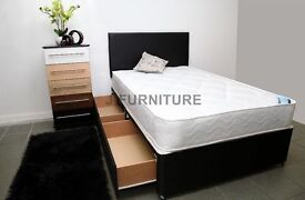 Brand New Divan Bed With Good Quality Medium Firm Mattress.Cheapest Online!