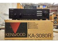 Kenwood KA-3080R Integrated Stereo Amplifier, Boxed with remote control.