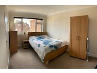 IKEA bedroom set - king size bed, bedside table, dresser, wardrobe