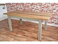 Chunky Hardwood Rustic Dining Table Six-Seater Oak Farmhouse Table - Limited SALE until end of Week