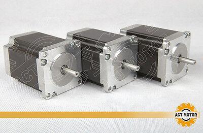 ACT Motor GmbH 3PCS Nema23 Schrittmotor 23HS8430 Stepper Motor 3.0A 76mm 1,9Nm