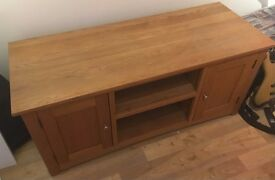Handmade real oak TV unit
