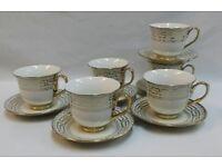 12PC GOLD VERSACE DESIGN TEA /COFFEE SET