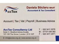 £75 Tax Return-Accountant/ Contabilitate-Permanent residency