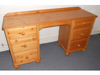 Solid Pine Dressing Table With 6 Drawers - Recently Assembled, Never Used