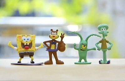 Sponge Bob Cake Topper | 8 High Quality Toy Figures | By ToysoutletUSA - Spongebob Cake Toppers