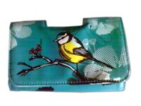 Yellow and Green Bird Decorated Clutch Purse