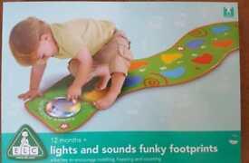ELC lights end soon funky footprints