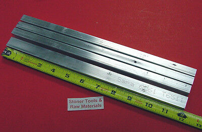 4 Pieces 12 X 34 Aluminum 6061 Flat Bar 12 Long .50 Solid New Mill Stock