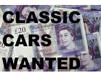CLASSIC & RETRO CARS WANTED. UNWANTED PROJECTS. MG MGB TRIUMPH BMC BL FORD BMW MERCEDES AUSTIN ETC