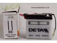 Motorcycle batteries from £6.50 all brand new and never fitted