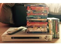 Sony DVD player dvp-ls500 with 24 kids dvds